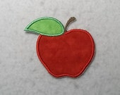 Apple (large) Tutu & Shirt Supplies - fabric iron on Applique Patch 7863