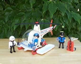 Playmobil Police Chopper 3144 - 1988 - Playmobil Helicopter