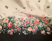 Vintage cottage chic, shabby cottage chic style TWIN flat sheet