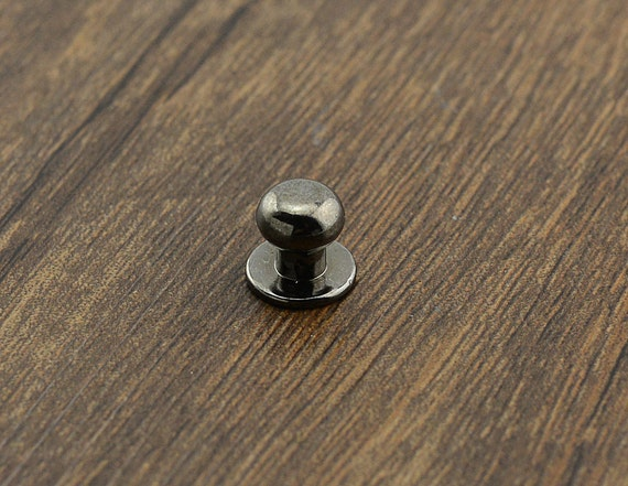 Gunmetal mini door knob pull knob pulls handles small for Small cabinet pulls