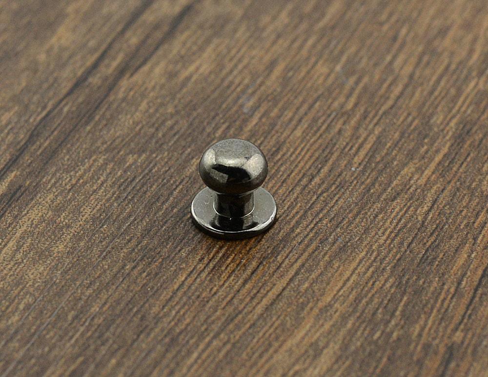 Gunmetal mini door knob pull knob pulls handles small cabinet for Small cabinet pulls