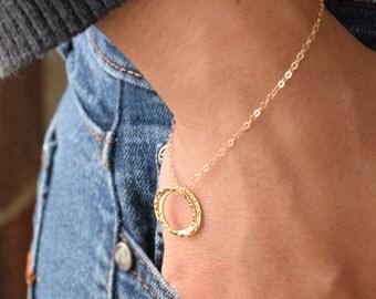 Best Friend Bracelet, Friendship Bracelet with Card, Double Circle Bracelet, BFF Bracelet, -2172