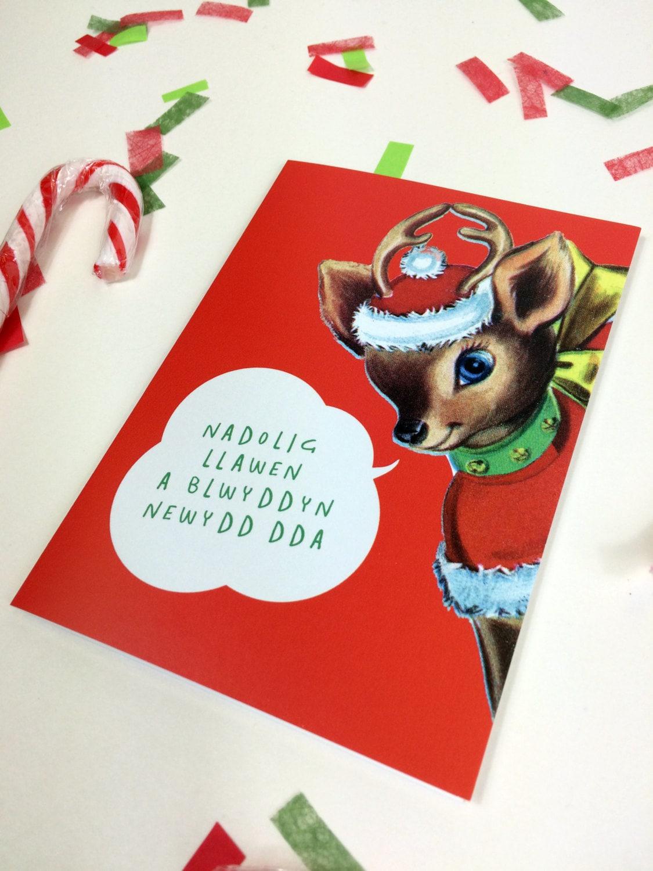 Welsh text christmas nadolig llawen blwyddyn newydd da eco welsh text christmas nadolig llawen blwyddyn newydd da eco friendly greeting card kristyandbryce Images