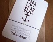 Papa Bear...Wish String Bracelet...