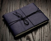 Leather Journal or Leather Sketchbook, Raven Purple Large Sized Notebook, Handbound Photo Album