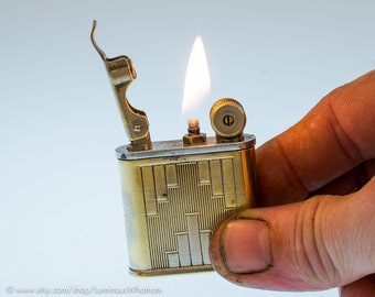 Working 1940s French Polaire Art Deco Lift Arm Pocket Lighter