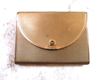 Vintage 1950s Gold Toned Coty Envelope Mirrored Compact