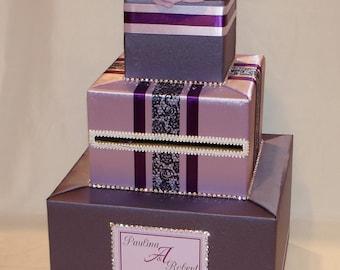 Victorian Lilac/Lavender/Plum Card Box -Shades of Purple