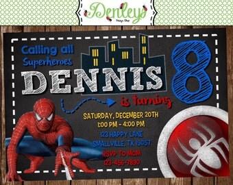 Spiderman Birthday Invitation (SM04)