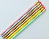 princess bride pastel pencil set of 6. engraved pencils. as you wish. Back to school pencils.