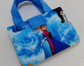Frozen fabric print Crayon Wallet. Free Shipping/ Ready to Ship