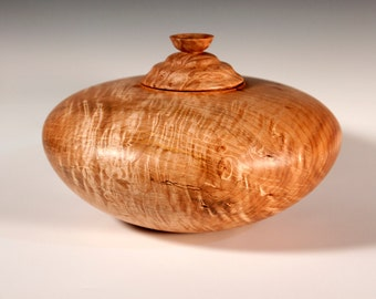 Beautiful Maple Burl Treasure Vessel Cremation Urn