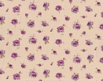 Fat eighth Rosa C, delicate rose Liberty of London, purple floral Liberty print