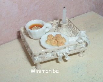 Dollhouse miniature sophisticated snack
