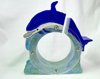 Dolphin Wooden Coin Bank - Free personalization