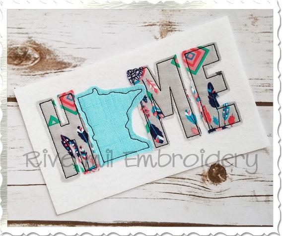 Raggy Applique Minnesota Home Machine Embroidery Design 4