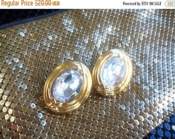 NOW ON SALE Designer Signed Carolee Vintage Rhinestone Earrings Rare Retro Collectible Mad Men Mod High Fashion Jewelry