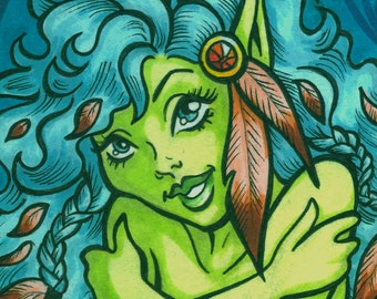 ACEO, Feathers in her Hair