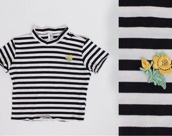 Yellow Rose Jailbait Crop Top Made to Order 90s inspired