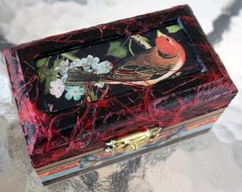 Mini Far East Decoupage Birding Box