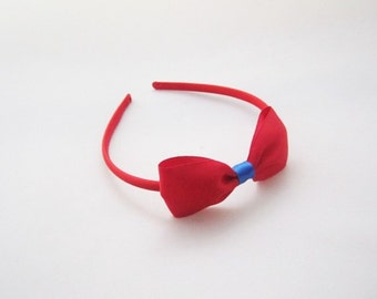 Red Headband with Bow -  Kids Snow White Costume Accessory