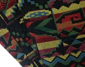 Thai Woven Fabric Tribal Fabric Native Fabric by the yard Ethnic fabric Aztec fabric Craft Supplies Woven Textile 1/2 yard Black (WF23)