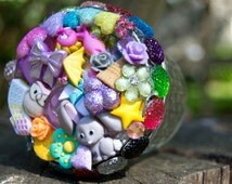 Put yo dank in this! Stash jar, art, button jar, cannibis jar, trinkets, air tight container, one of a kind, happy stuff, ball jar, mason