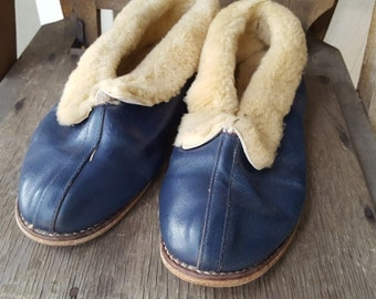 LOUNGE    ///     Leather Fleece Slippers