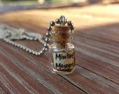 Harry Potter Inspired Mischief Managed Necklace Vial With Miniature Marauders Map