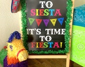 Cinco de Mayo Party Fiesta Party Welcome Sign, Printable Party Sign Decoration, Large sign, INSTANT DOWNLOAD