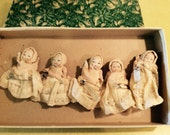 RESERVED For Anne Please do not purchase Vintage Five Bisque Dolls Dionne Quintuplets