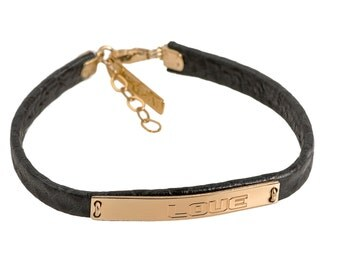 Boyfriend gift, Mens bracelet, Love bracelet, Leather bracelet, Rose gold Personalized bracelet,  Gift for a Boyfriend, husband gift
