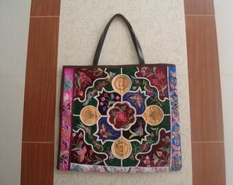 Tote -Tribal-Handmade Ethnic Hmong Bag A-08