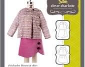 Clever Charlotte Chickadee Blouse & Skirt - Original Sewing Patterns