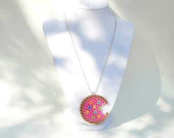Kawaii Pink Cookie Necklace