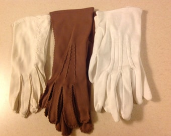 3 Pairs of Vintage Gloves