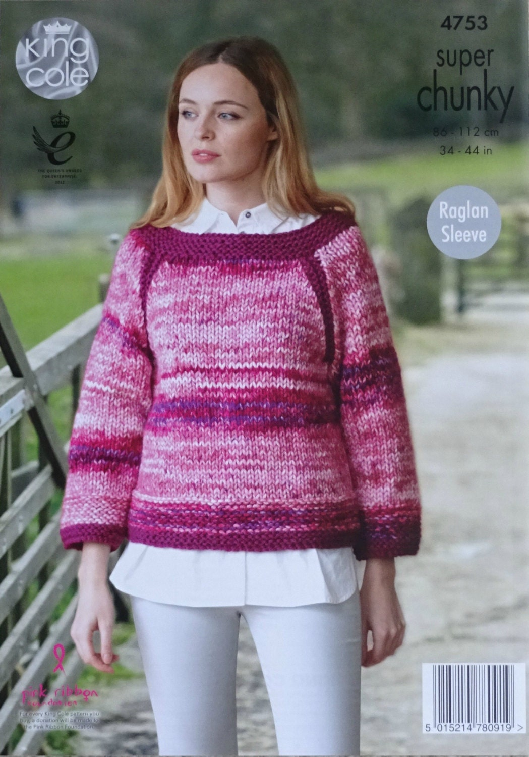 Womens knitting pattern k4753 ladies easy knit long sleeve boat womens knitting pattern k4753 ladies easy knit long sleeve boat neck jumper knitting pattern super chunky super bulky king cole bankloansurffo Images