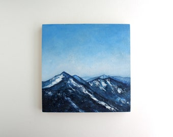 Adirondack Mountains Painting - 8 x 8