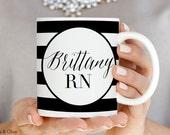 Nurse Mugs RN Mugs Personalized Nurse Mugs Nurse Appreciation Gift Nurse Graduation Gift Nurse Gift Registered Nurse Gift RN Nurse Cup N0003