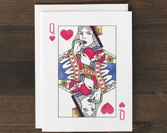 Funny Valentine's Card Queen of Hearts