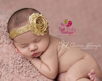 Sparkle Headband & clip set, Crystal Headband, Gold Baby Headband, Glitter Headband, Silver Headband, Baby Headband, Holiday Headband