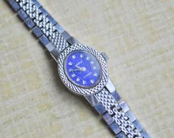 Movement run. Vintage Soviet wrist watch.