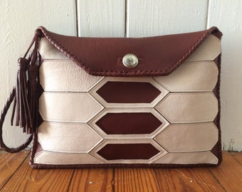 Tortoise Shell Leather Clutch