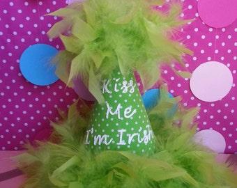 St. Patrick's Day Party Hat Kiss Me I'm Irish