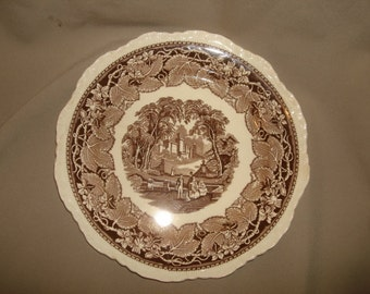 "Mason's Ironstone VISTA BROWN 10 3/4"" Dinner Plate 6 AVAILABLE"