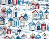 Two 20 x 20  Custom Decorative Pillow Covers for Indoor/Outdoor - Beach House - Red/Blue/White