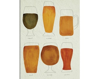 iCanvas Beer Artprint Gallery Wrapped Canvas Art Print by Cat Coquillette