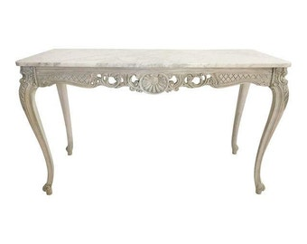 French Marble Topped Console Table