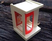 Little People Phone Booth~ Vintage 1970s Fisher Price Plastic Toy