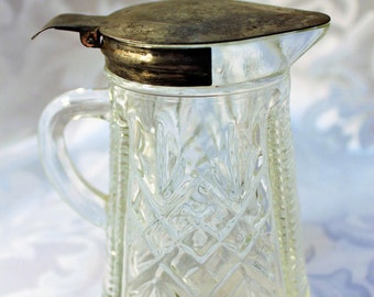 Antique Molasses Can/Syrup Dispenser/Cut Glass